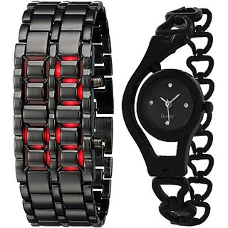 i DIVAS KKAL STYLISH WATCH SET FOR COUPLE MADE FOR EACH OTHER Analog-Digital Watch - For Girls Men Women Boys Couple 6 monthwarranty