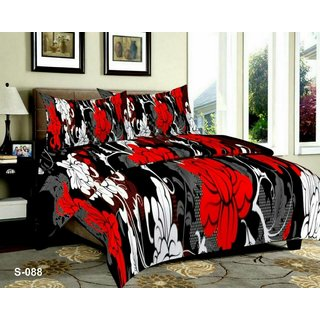 Cloud India 3D Luxury Printed 180Tc Polycotton Queen Size Bedsheet With 2 Pillow Covers