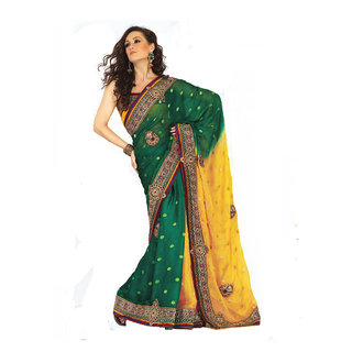 Georgette Heavy Embroidered saree SC2310