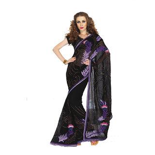 Georgette Heavy Embroidered saree SC2321