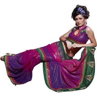 Designer Multi Shimmer Georgette Embroidered saree SC122