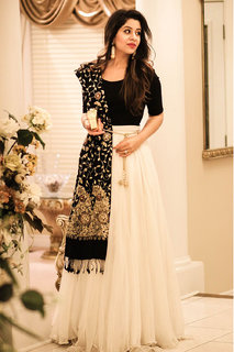 Meia Black Festive Wear Lahenga Choli for Women