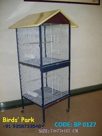 Bird Cage with removable partition imported GOOD for Finch LoveBird Cockatiels Budgie  Dove