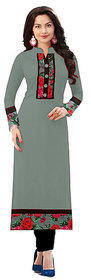 Omstar Fashion By New Designer Grey Color indo cotton fabric semi Stitched Printed Kurti (KRT 64)