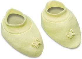 Tumble Yellow Plain Baby Booties - 0 to 6 Months