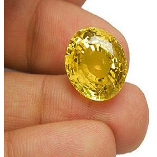 7 50 Ratti Ceylon Yellow Sapphire By Lab Certified Jaipur Gemstone