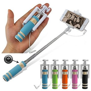 Mobile Mini Pocket Selfie Stick monopod wired for iphone and all smartphones