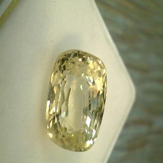 9.00 ratti Ceylon Yellow Sapphire By Lab Certified Jaipur Gemstone