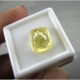 9.25 Ratti Ceylon Yellow Sapphire By Lab Certified Jaipur Gemstone