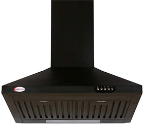 Bright Flame Black Daisy 900 M3/ Hr 60cm Baffle Filter Chimney