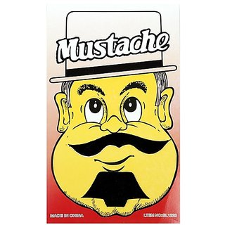 Funcart Single Stick On Moustache With Beard Design 1