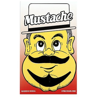 Funcart Single Stick On Moustache With Beard Design 2