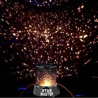 vu4 Romantic Sky Star Master Projector Light Night Lamp (13 cm Black)