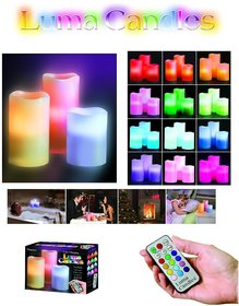 Color Changing Flameless LED Light Candle With Remote