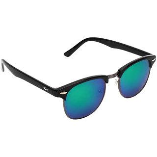 Zyaden Black Unisex Clubmaster Sunglasses 22