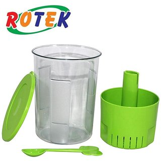 Rotek Branded Multi-Color Oil less Unbreakable Plastic Pickle Container 1000 Ml Capacity
