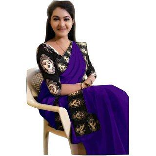 Indian Style Sarees New Arrivals Latest Women's Chanderi Cotton Kalamkari Print Border With Kalamkari Blouse Saree Bolly