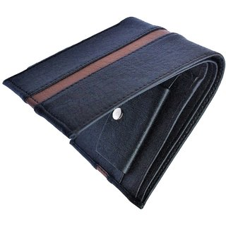 Artificial Stylish Italian Mens Black Leather Wallet - Stylecode54