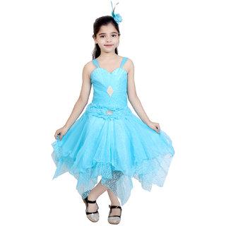 KBKIDSWEAR Girl's Sweet-Heart Premium Net Party Wear Frock