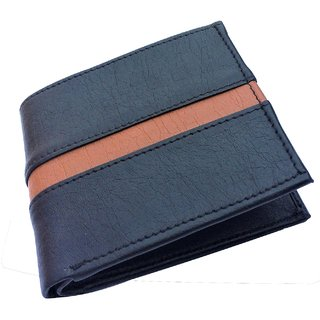 Artificial Stylish Mens Italian Black Leather Wallet for men- Stylecode56