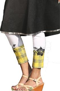i-bought Party Wear white polyLycra Leggings  DIGITAL 8