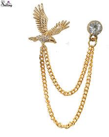 Men Style  Men's Flying Eagle Brooch  Party Formal Suits Lapel Pins Brooch  For Men