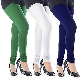 Juliet Combo of 3 Multi-color cotton leggings (3L-4(1))