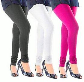 Juliet Combo of 3 Multi-color cotton leggings (3L-4)