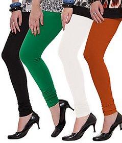 Juliet Combo of 4 Multi-color cotton leggings (4L-6(1))