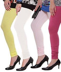 Juliet Combo of 4 Multi-color cotton leggings (4L-6)