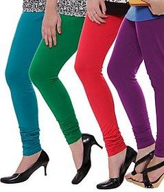 Juliet Combo of 4 Multi-color cotton leggings (4L-6(2))