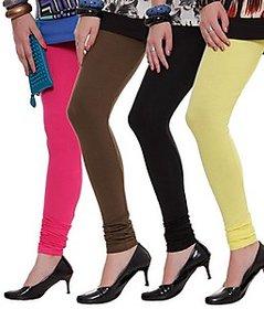Juliet Combo of 4 Multi-color cotton leggings (4L-6(3))