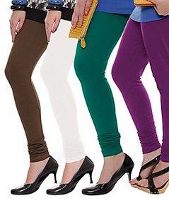 Juliet Combo of 4 Multi-color cotton leggings (4L-6(4))