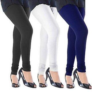 Juliet Combo of 3 Multi-color cotton leggings (3L-3)
