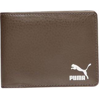Puma Men Brown Artificial Leather Wallet (6 Card Slots)