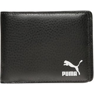 Puma Men Black Artificial Leather Wallet (6 Card Slots)