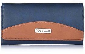 Fostelo Women's Sunrise Clutch  (Blue) (FC-16)
