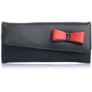 Fostelo Women's Bow Clutch  (Black) (FC-02)