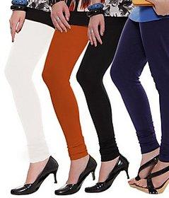 Juliet Combo of 4 Multi-color cotton leggings (4L-6(5))