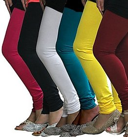 Juliet Combo of 6 Multi-color cotton leggings (6L-3(4))