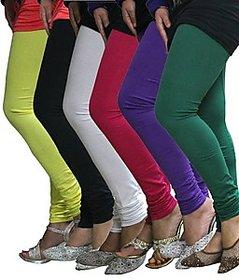 Juliet Combo of 6 Multi-color cotton leggings (6L-3(5))