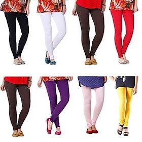 Juliet Combo of 8 Multi-color cotton leggings (8L-2)