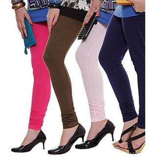 Juliet Combo of 4 Multi-color cotton leggings (4L-6(7))