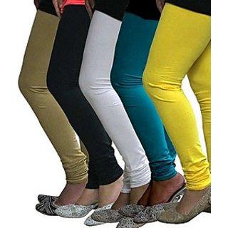 Juliet Combo of 5 Multi-color cotton leggings (5L-3(7))