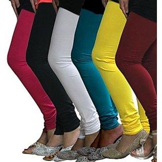 Juliet Combo of 6 Multi-color cotton leggings (6L-3(4))