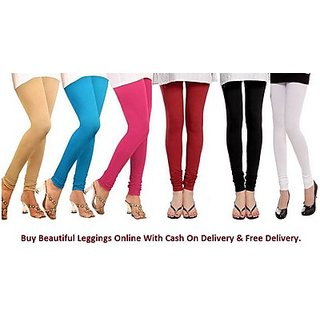 Juliet Combo of 6 Multi-color cotton leggings (6L-3(6))