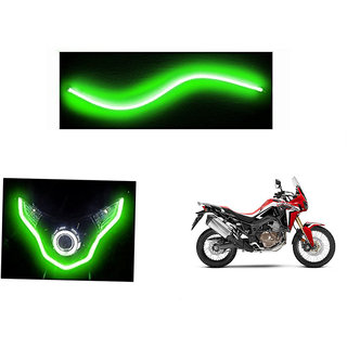 Himmlisch  Flexible 30cm Bike Headlight Neon LED DRL Tube GREEN For Honda Africa Twin