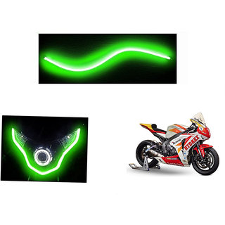Himmlisch  Flexible 30cm Bike Headlight Neon LED DRL Tube GREEN For Honda CBR1000RR Fireblade