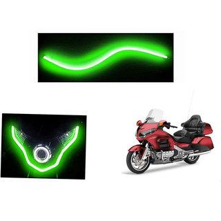 Himmlisch  Flexible 30cm Bike Headlight Neon LED DRL Tube GREEN For Honda Gold Wing GL1800