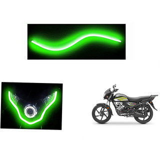 Himmlisch  Flexible 30cm Bike Headlight Neon LED DRL Tube GREEN For Honda CD 110 Dream